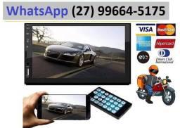 Multimídia Mp5 Player Automotivo Dvd, Som Radio Usb Mp3 Bluetooth e Espelhamento