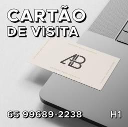 Cartão de Visita - Arte e Entrega Grátis - R$80,00