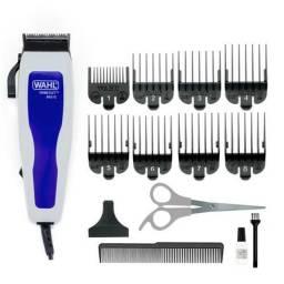 Máquina de Cortar Cabelo Wahl Home Cut Basic 9155 com 8 Pentes - Cinza/Azul<br><br>