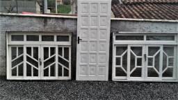1 Porta 2x80 maciça em itauba com chave duas Janelas 1.60x1.20