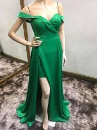 Vestido verde minimalista/liso