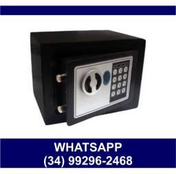 Entrega Grátis * Cofre Eletrônico Digital Senha e Chave 23x17x17cm * Chame no Whats