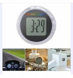 Relógio digital a prova dágua para moto