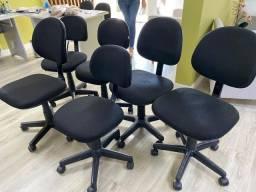Kit 6 cadeiras empresarias