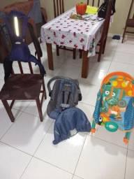 KIT (Bebe Conforto Nest + Bolsa Canguru + Cadeira de Balanço) - Estado de NOVO