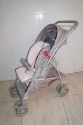 Carrinho De Bebê Maranello Galzerano Cinza/rosa