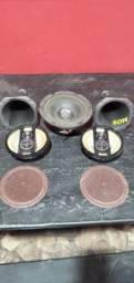 Kit auto falantes,subwoof e corneta (relíquia)