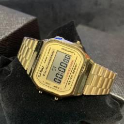 Relógio Casio Digital Original Com Caixinha Unissex Retro A168 Vintage
