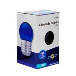 Lâmpada Bolinha Azul 7W 127 Volts - 18 Unidades