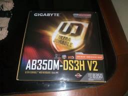 Placa mãe Gigabyte AB350M socket AM4