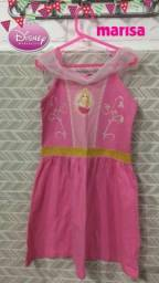 vestido lindo 8 anos princesa aurora disney/marisa