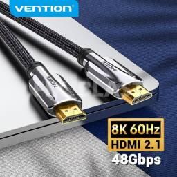 Cabo Hdmi 3 metros Vention 2.1 8k/60hz 4k/120hz Premium Dourado