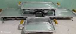 Picanheira de alumínio batido