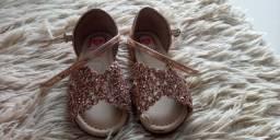 Sandália infantil dourada molequinha