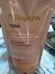 Refil loção hidratante O Boticário NativaSpá Rosé 400mL