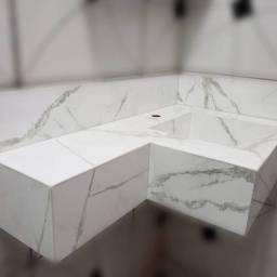 Pias esculpidas em Porcelanato
