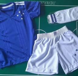 Uniforme completo do Cruzeiro infantil
