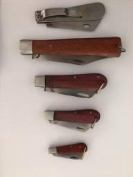 Canivete, bainha, cinto, capa de celular