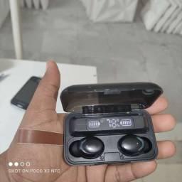 Fone de ouvido tws bth-f9-5, com microfone para chamadas, conexão Bluetooth,