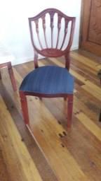 Jogo de 6 cadeiras mogno