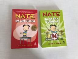 Livros Nate da um show e Nate bota pra quebrar