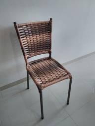 Cadeira de Mesa Fibra Sintético no Crediário
