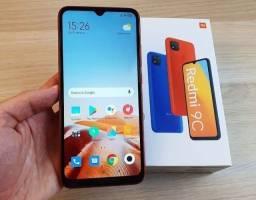 Lacrado - Smartphone Xiaomi Redmi 9C - 64GB/3GB ou 32GB/2GB - Versão Global