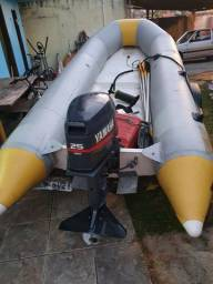 Título do anúncio: Vendo bote inflável e motor 25hp Yamaha e reboque