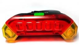 Farol Lanterna Traseiro Bike Recarregável Usb Led Vermelha - Imperium Informatica