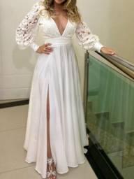 Vestido de noiva/festa branco off white usado 1 vez , lavado e alvejado em lavanderia