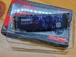 NVMe M.2 256GB KingSpec - NE 2280 5x mais rapido que SSD