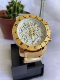 Relógio bvlgari novo em aço!