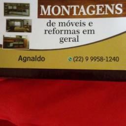 Montagem e desmontagem de móveis  apartir de  50 reais zap * Agnaldo