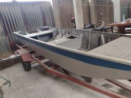 Título do anúncio: Barco De Alumínio Mais novo do Estado