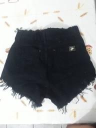 short jeans tamanho 38