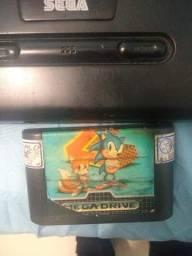 Troco Mega drive completo + 3 fitas por nintendo 64 ou fitas de super nintendo