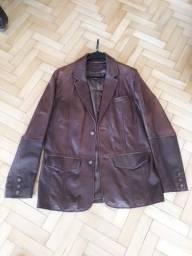 Blazer Casaco Jaqueta Em Couro Wilson's Leather