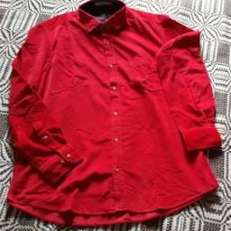 Camisa Manga Longa Vermelha excelente presente para o dia dos pais