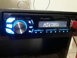Pioneer mixtrax usb rádio AM e FM saídas rca e auxiliar