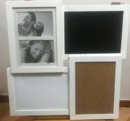 Lousa Magnética com Fotos e Quadro Negro Usada