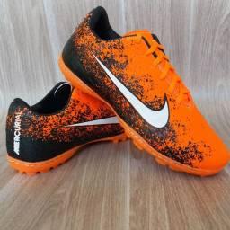 Chuteira Nike Futsal Orange