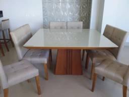 Sala de jantar quadrada de 8 lugares nova completa pronta entrega