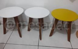 Trio de mesas pequenas
