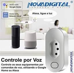 Tomada Inteligente Novadigital Wifi Smart Home, Funciona com Alexa e Google home mini