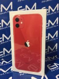 Iphone 11 128GB Red Apple - Lacrado - aceito seu iphone usado como entrada