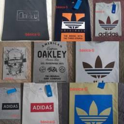 Camisetas básicas promoção 3 por $100.00