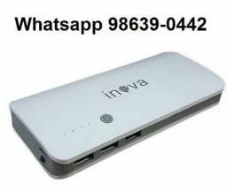 Bateria Recarregável Portátil 10.000mAh (Novo, aceito cartão)