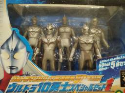 Kit 5 bonecos de ultraman