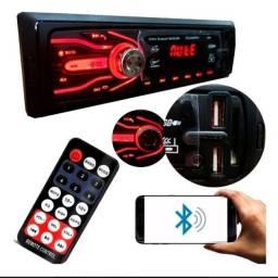 Rádio automotivo mp3 com bluetooth pendrive cartão de memória entrada auxiliar rádio FM