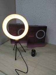 Ring light de mesa com diâmetro de 6 polegadas